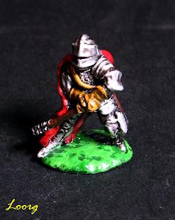 Miniatura con peana de metal