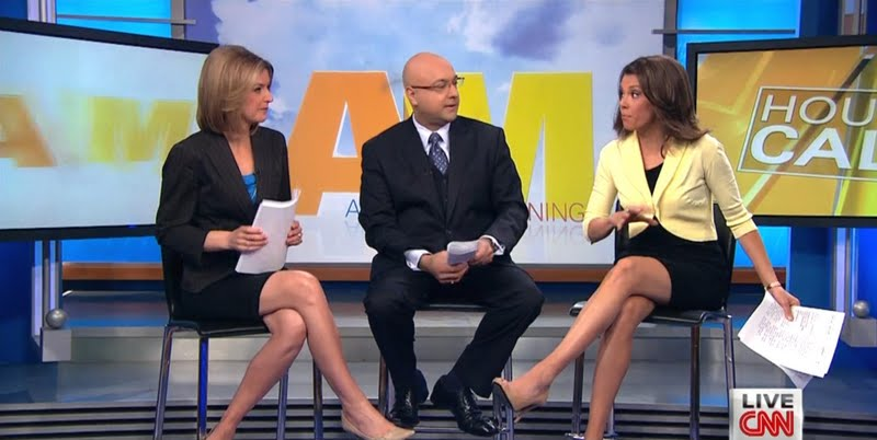 American Morning's Kiran Chetry and Christine Romans