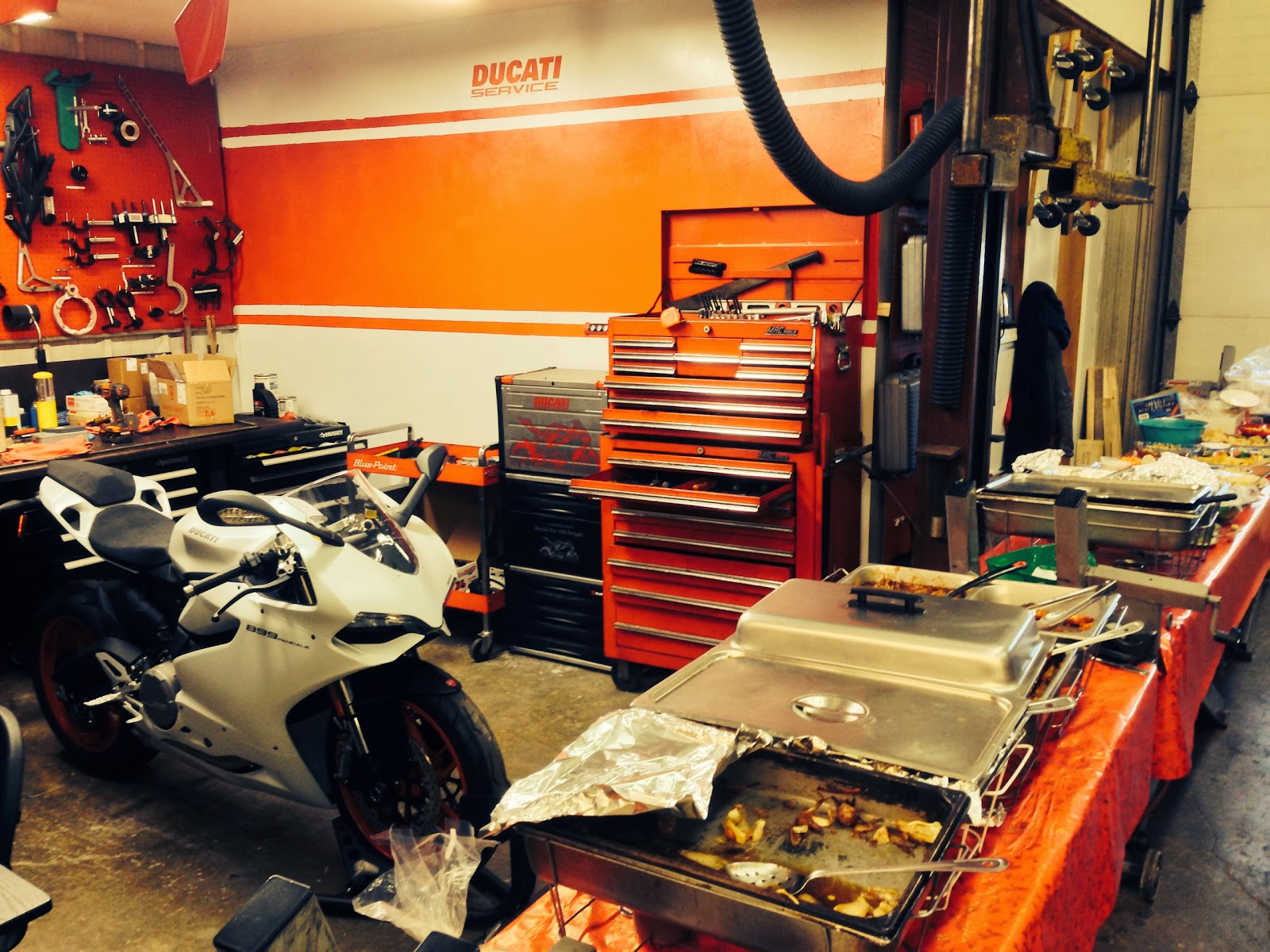 Rockwell Cycle and DESMO Ducati Holiday Parties with the DOCNYC from Tigho NYDUCATI 899 Panigale