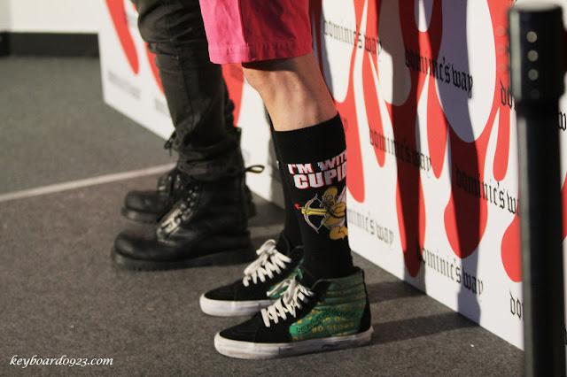 Shinee Key's socks Seoul Fashion Week 121022