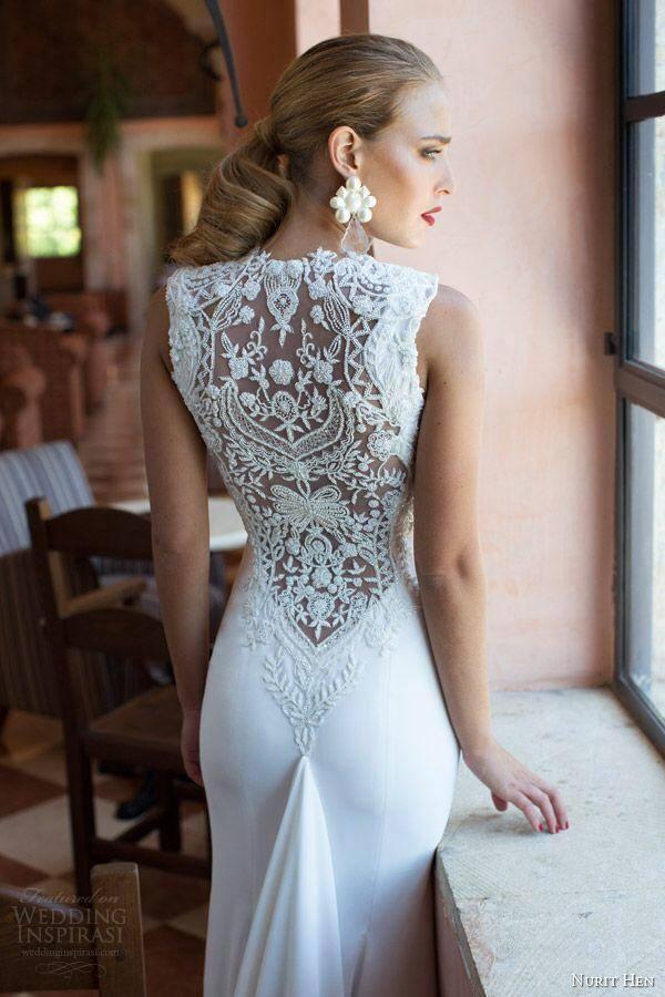Suknia ślubna Z Koronką Na Plecach Inspiracja Pomysł Koncepcja