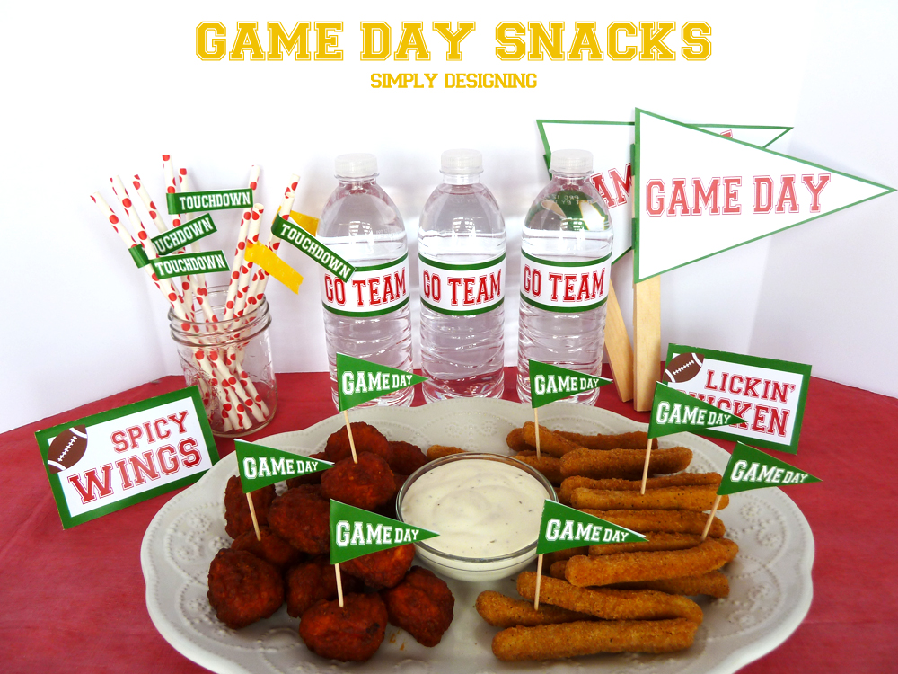 #ad Game Day Snacks + FREE Printable | #SuperMoments, #cbias #printable #gameday