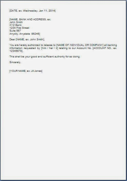 Letter Format » Bank Statement Letter Format - Cover Letter And