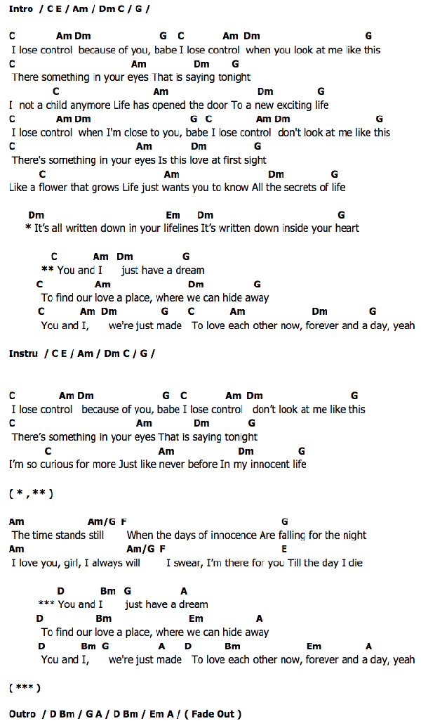 The pictures for --> Scorpions U And I Chords