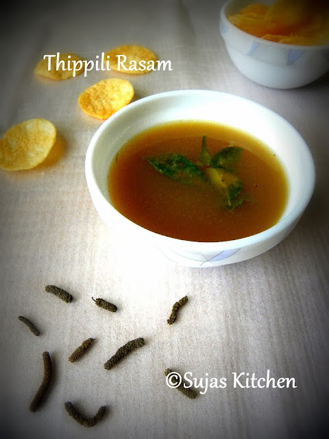 How to make Thippili Rasam/Long Pepper Soup - A herbal cure for many ailments.