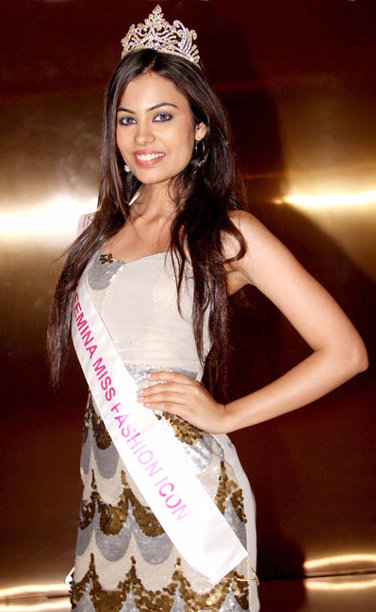 Srishti Rana,winner of Max Femina Miss Fashion Icon 2013 Sub-Title during the Ponds Femina Miss India 2013 beauty pageant held at Yash Raj Studios in Mumbai on March 24, 2013.