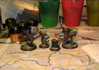 figurki władca pierścieni: Eomer Marshal of the Riddermark, Eomer Hereos of the West, Ranger of Gondor, Rohan Horse.