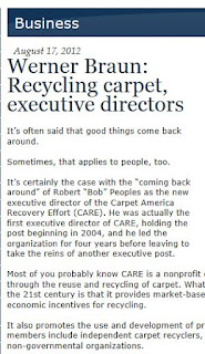 Recycling carpet, executive directors by Werner Braun