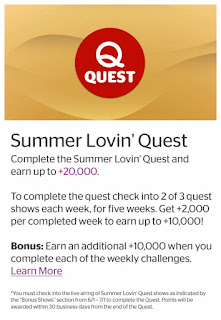 Summer Lovin' Quest, Viggle, Viggle Mom, Viggle 20,000 Bonus Points
