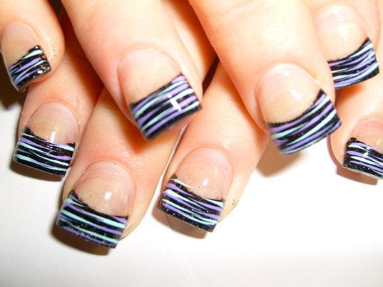 Zebra Acrylic Nail Designs