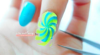 Neon Luminous Water decal Nail stickers