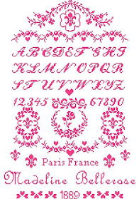 French Schoolgirl Sampler ~ Stitch it in your favorite color!