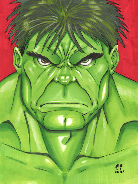 the Incredible Hulk _ Copic por daikkenaurora