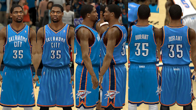 NBA 2K14 Oklahoma City Thunder Jersey Mods
