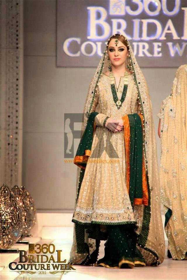 Bridal Mehndi Dresses for Girls