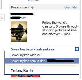 cara blokir iklan facebook