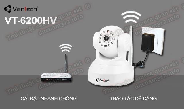 Hướng dẫn cài đặt xem qua mạng camera IP wifi VT-6200HV