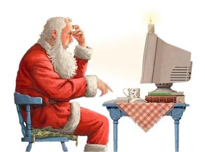 Papai Noel Blogueiro desejando Feliz Natal