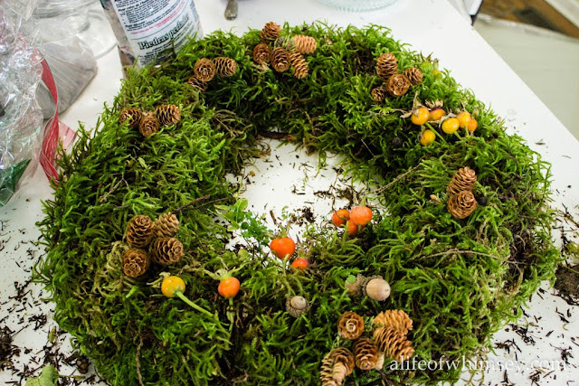 Autumn moss wreath
