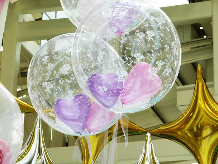 adornos globos transparentes