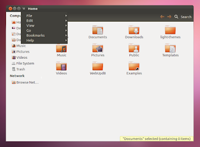 locally integrated menu Ubuntu