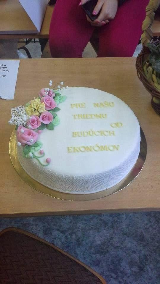 Torta pre učiteľku