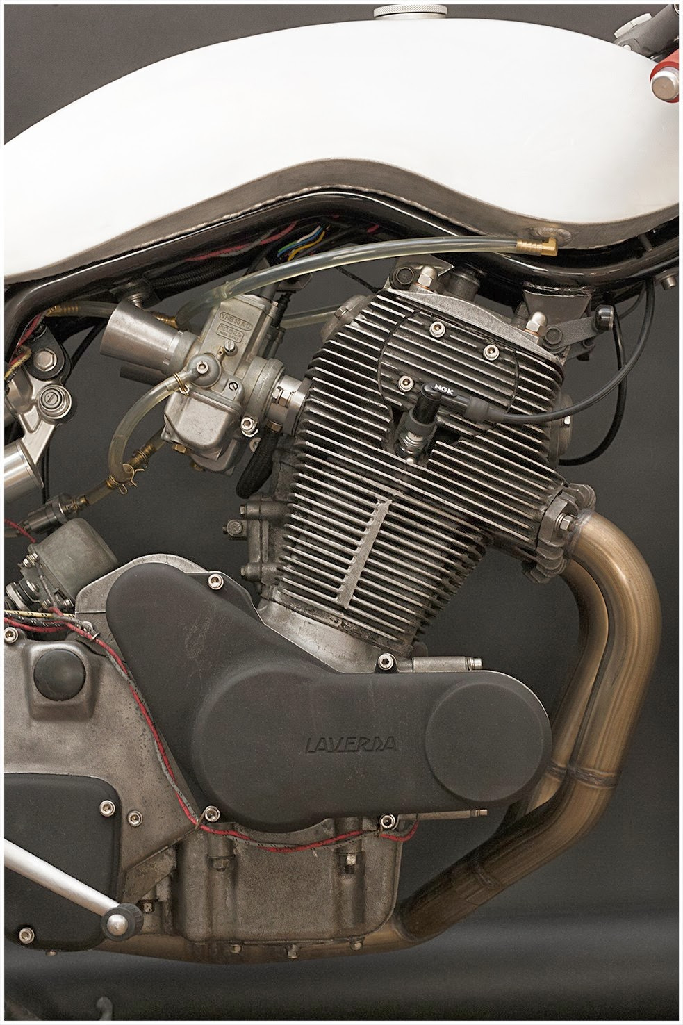 Laverda SF 750 Cafe Racer by Wrenchmonkees is one minimalist looking well built cafe racer  Laverda SF 750 Standard engine, Standard Dell'Orto PHF carburetor, aluminum velocity stacks. Laverda SF 750 New electronic ignition system