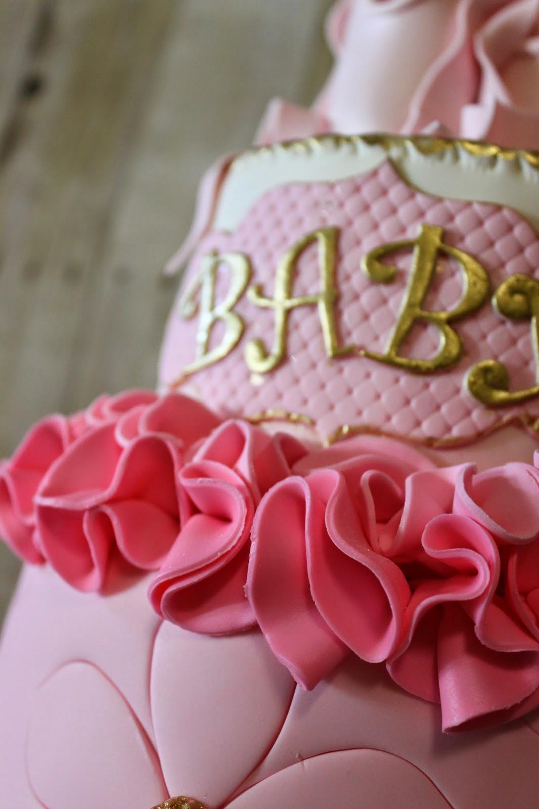 sandra 39 s cakes ballerina themed baby shower cake