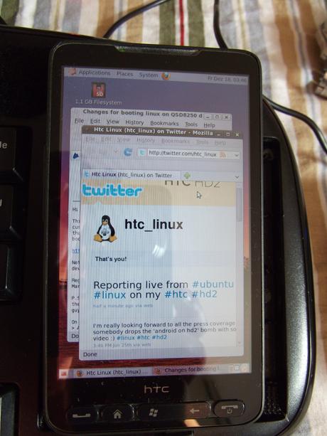 До сегодняшнего дня попытки запуска Android на HTC HD2 ОС Ubuntu, наибо