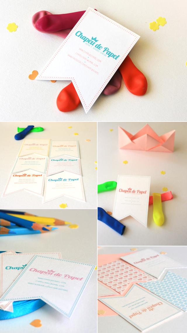 cartões chapéu de papel