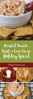 Roasted Tomato, Basil, and Goat Cheese Holiday Spread found on KalynsKitchen.com