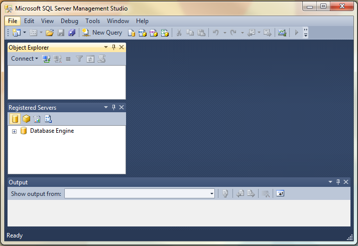 how to connect sql server management studio