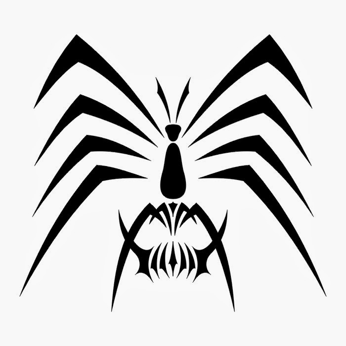 Spider tattoo stencil