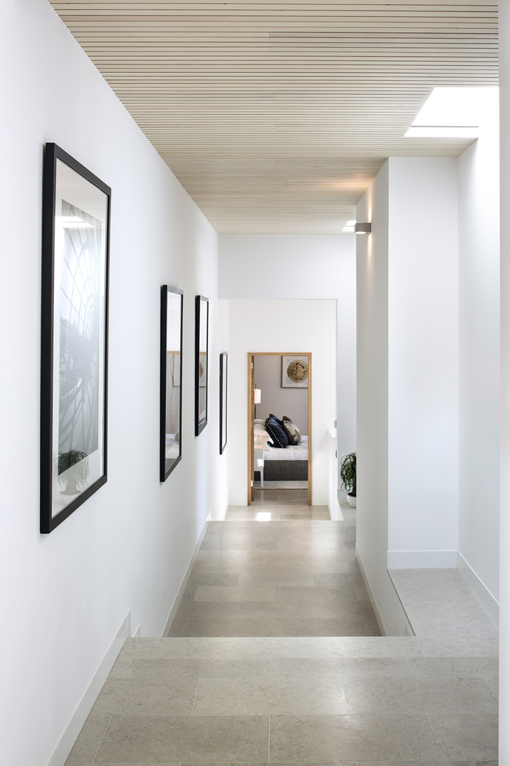 Hallway of Simple modern home in Portugal