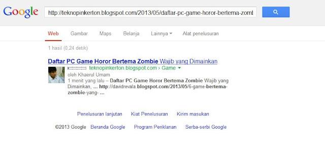 Blog Copas Ane Cepat Terindex Google dalam Hitungan Detik