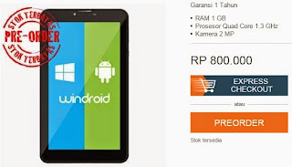 Axioo Windroid 7 WiFi Rp 800.000
