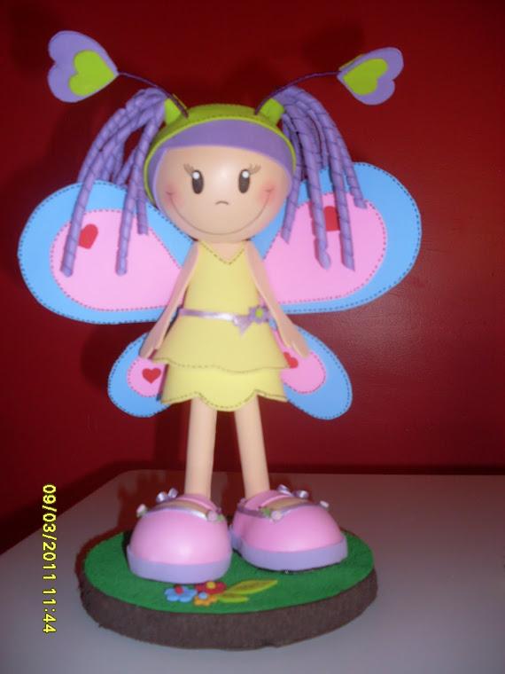 boneca personalizada MARIA CLARA em e.v.a 3d