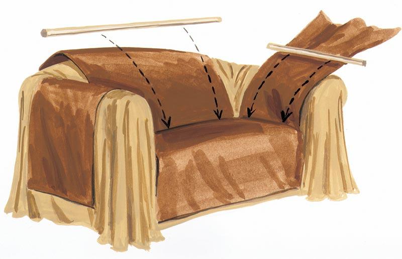 Накидки на кресла своими руками