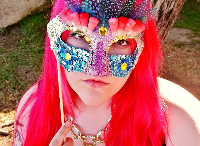 Mardis Gras Mask Craft