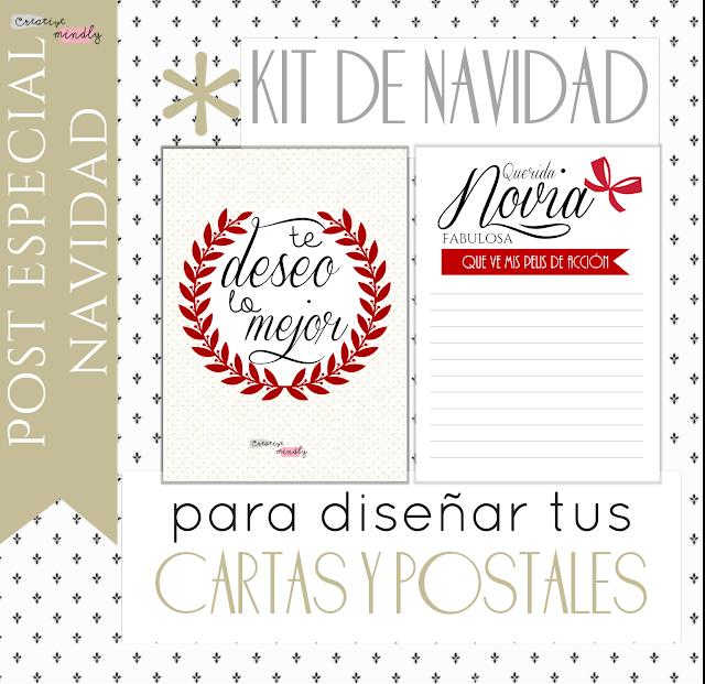 Creative mindly cartas y postales navide as para - Disenar tarjetas de navidad ...