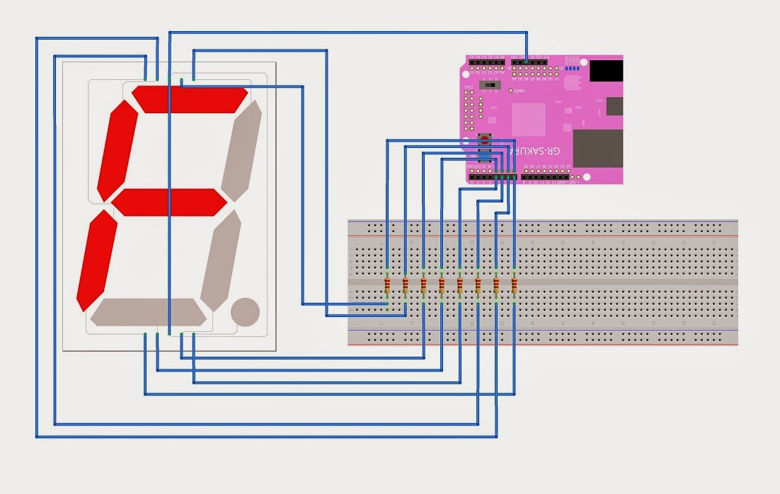 Mbed  7 Segment Led Display Interfacing