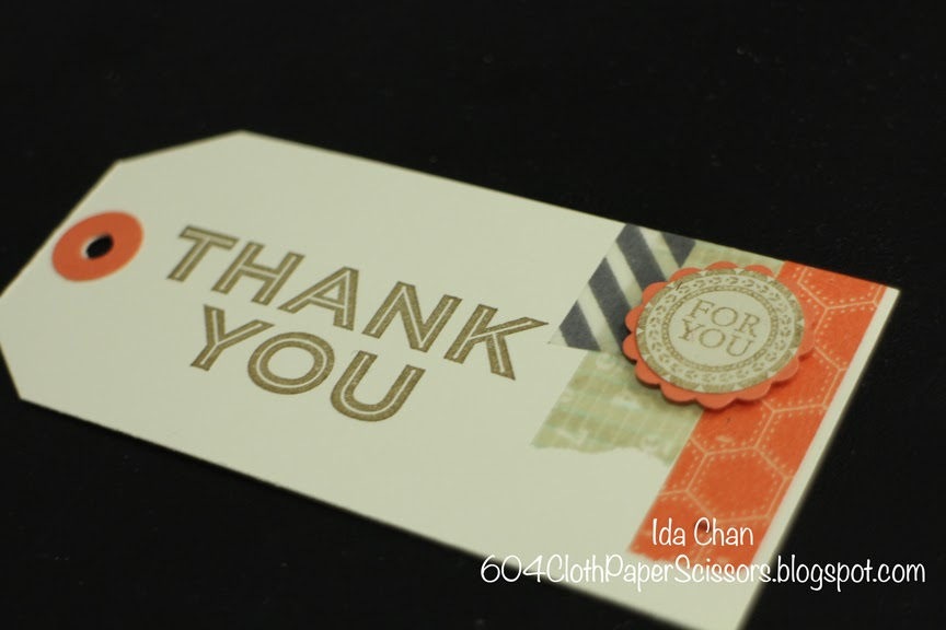 #Angled Tag Topper #Punch Thank you #Stampin Up by Ida Chan