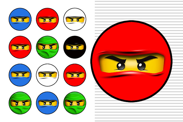 Ninjago Free Printable Toppers Labels Images And