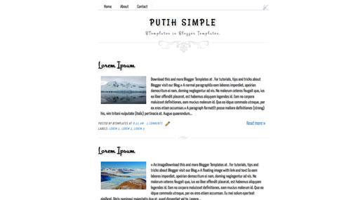 Download template Putih Simple (satu kolom)