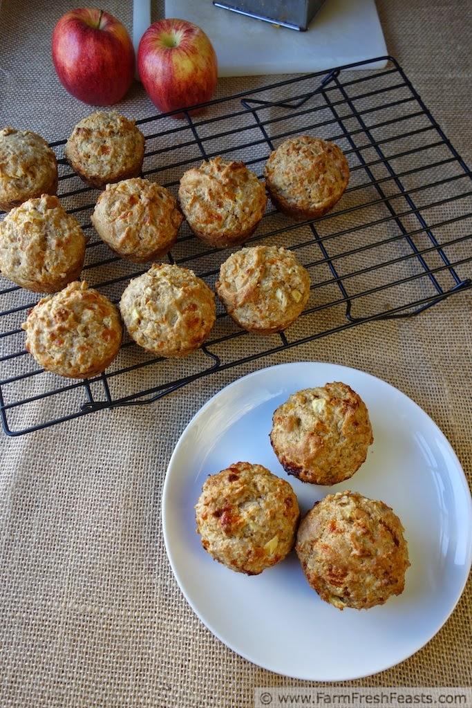 Cheddar Apple Soaked MultiGrain Muffins | Farm Fresh Feasts