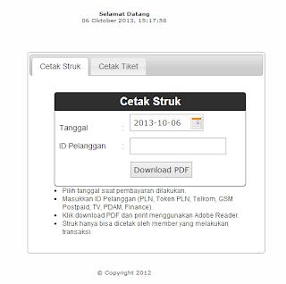 akses web cetak struk sumafone