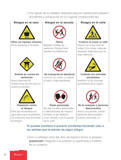 Apoyo Primaria Formación Cívica y Ética 1er grado Bloque 1 Lección 4 Prevención de accidentes
