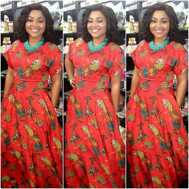 Mercy Aigbe Shines On Set Of Her New Movie