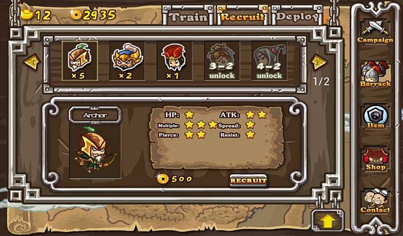 การพัฒนาทหารภายในเกมสามก๊ก Radical Three Kingdoms