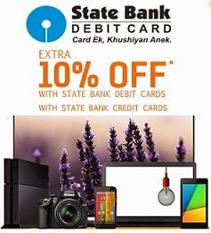 (Expired) Flipkart & State Bank of India Offer: Get Extra 10% Off for SBI Credit / Debit Card Holders (Valid from 17th Oct'14 to 21st Oct'14)